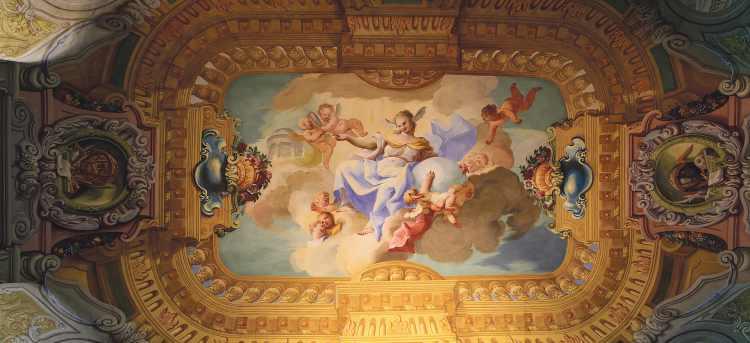 Melk Abbey interior ceiling art