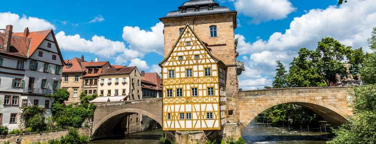 Bamberg town hall on the bridge, Bavaria