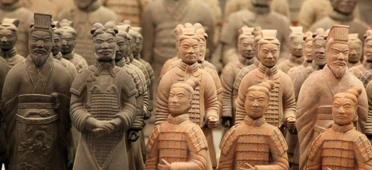 Close up of Terracotta Warriors