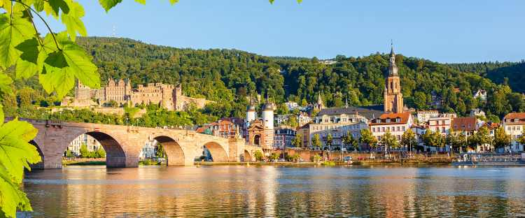 Heidelberg on the Rhine river