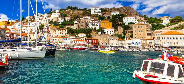 Harbour on Greek Island of Hydra | Tours to Greece | Riviera Travel
