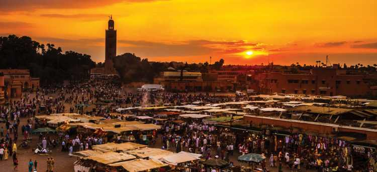 marrakesh | markets | sunset | Tours to Morocco