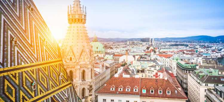 Sunlight on the colourful tiled roof | Vienna Cathedral | Vienna | Austria | Riviera Travel | escorted tour