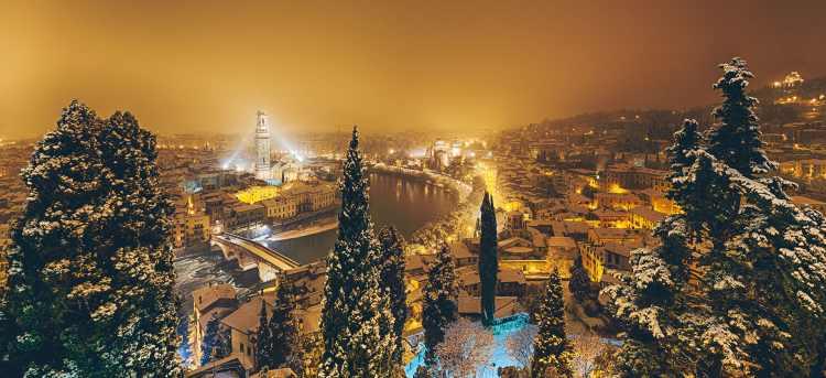 Verona in the snow