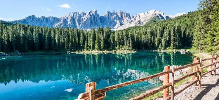 Lake Carezza | Italy | walk and discover | walking holiday | Riviera Travel | escorted tour | Europe | European
