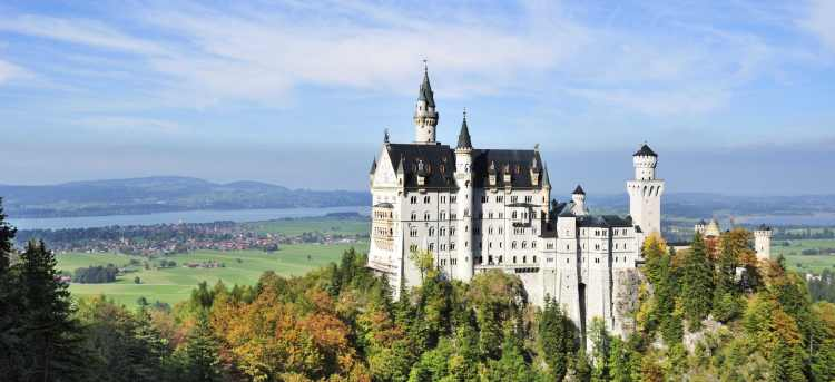 Take a guided tour of iconic Neuschwanstein Castle | seat of the Bavarian Kings | Austria | Riviera Travel | escorted tour