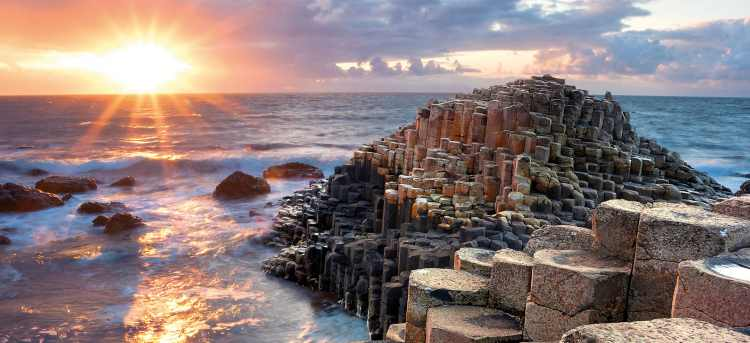 Sunset over the Giant's Causeway | Ireland | Riviera Travel | escorted tour