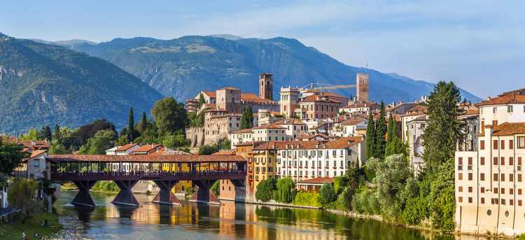 Ponte degli Alpini bridge | Bassano del Grappa | Italy | Riviera Travel | escorted tour