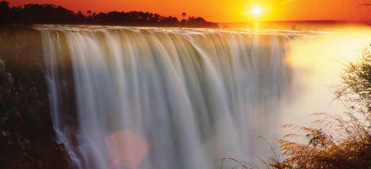 Experience the breathtaking Victoria Falls on our escorted tour