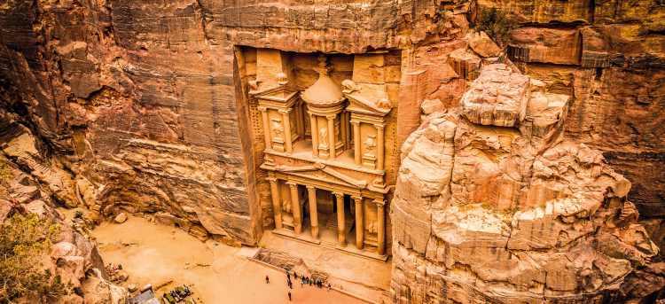 The Treasury in Petra | Jordan | Riviera Travel | escorted tour