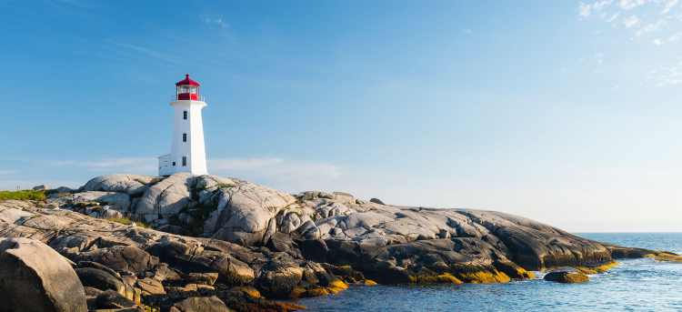 Peggy's Cove lighthouse in Canada