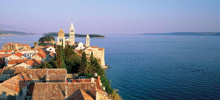 The shores of Rab | Rab harbour | Croatia | yacht cruise | solo traveller | Riviera Travel