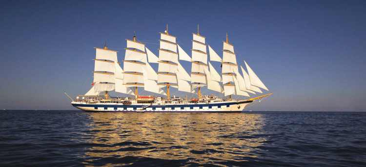 Royal Clipper sailing on the mediterranean | European Escorted Tours