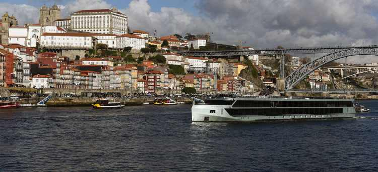 MS Douro Splendour ship on the Douro river
