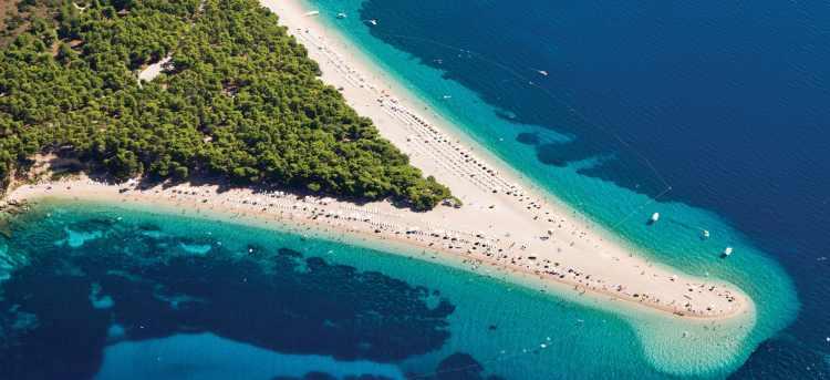 Brac island beach coast and forest | Croatia |  Late Availability: Yacht Cruises
