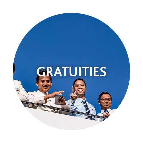 You can spend your credit on gratuities for the crew and staff