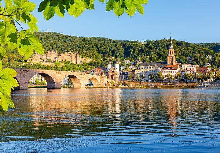 Heidelberg city along the Rhine