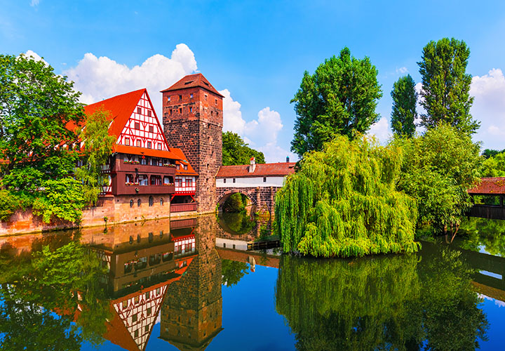 Old Town in Nuremberg Germany