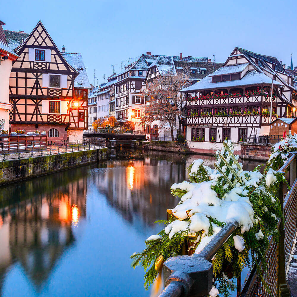 Strasbourg in the snow