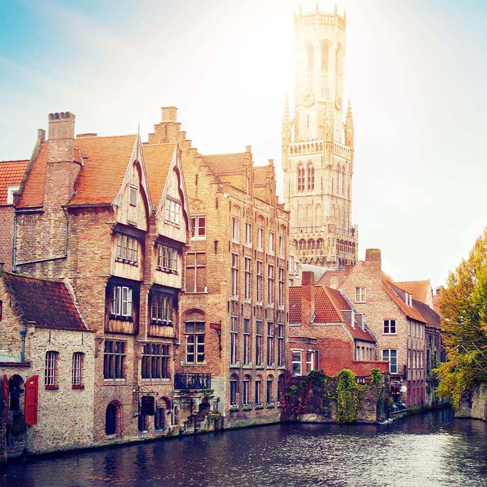 Canals of Bruges and the Belfry