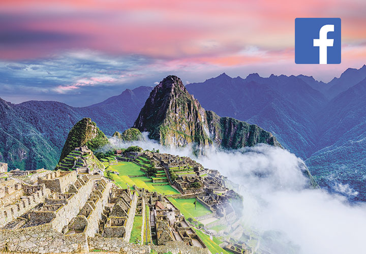 Peru with Facebook Logo