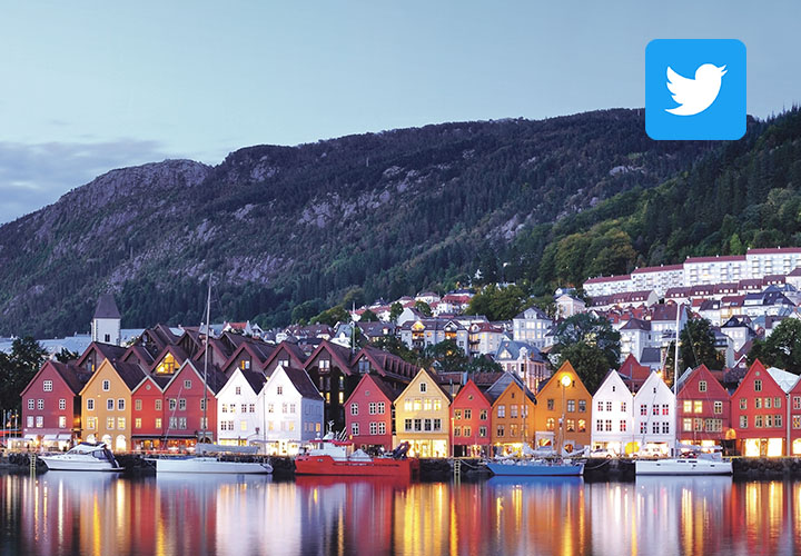 Norway with Twitter Logo