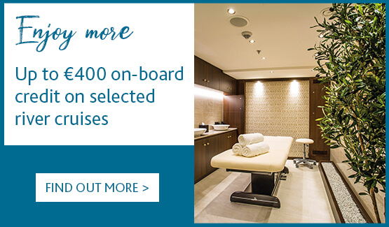 Up to €400 on-board credit on selected river cruises