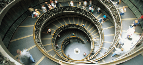 Spiral staircase inside the Vatican