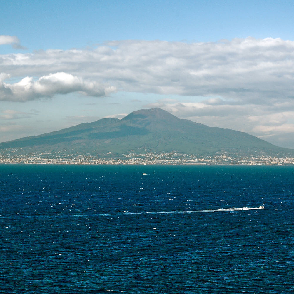 Mount Vesuvius from the sea