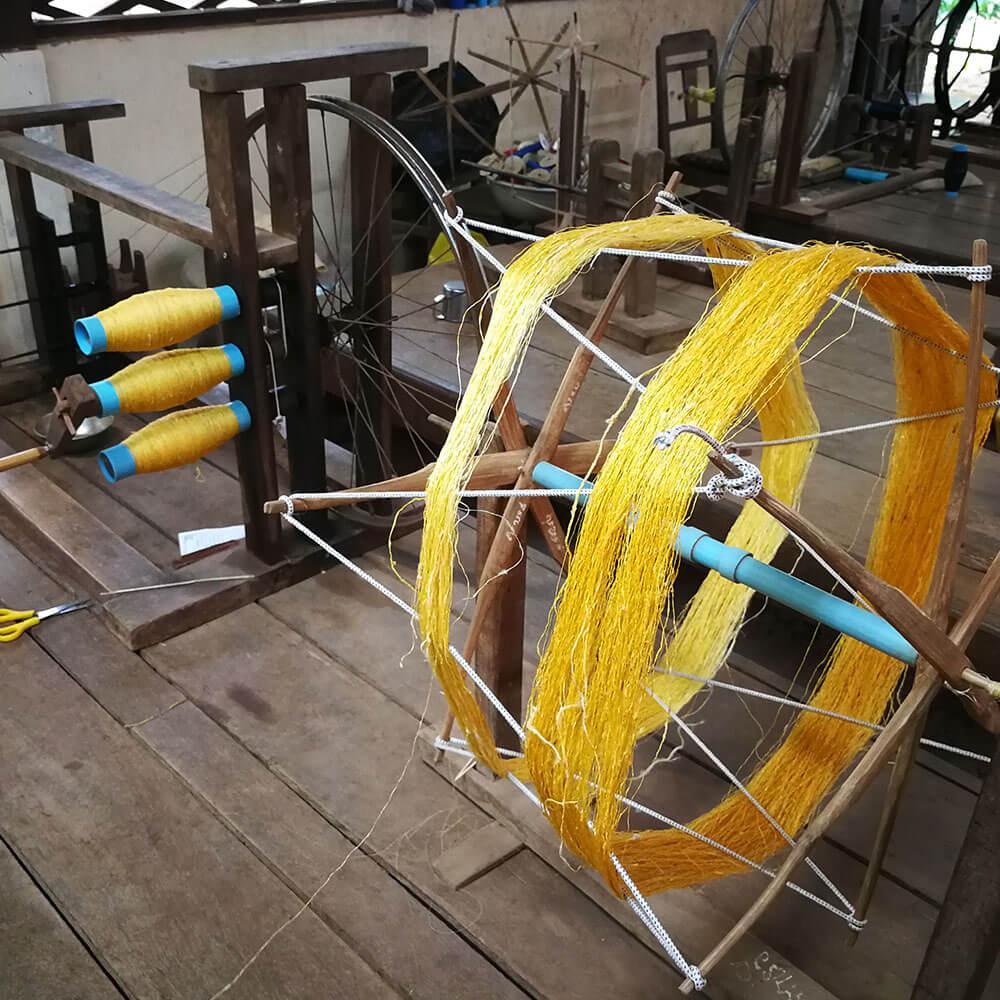 Silk weaving workshop in Chong Koh