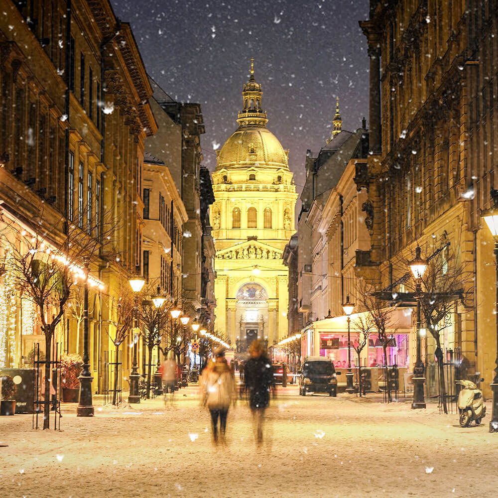 Budapest in the snow