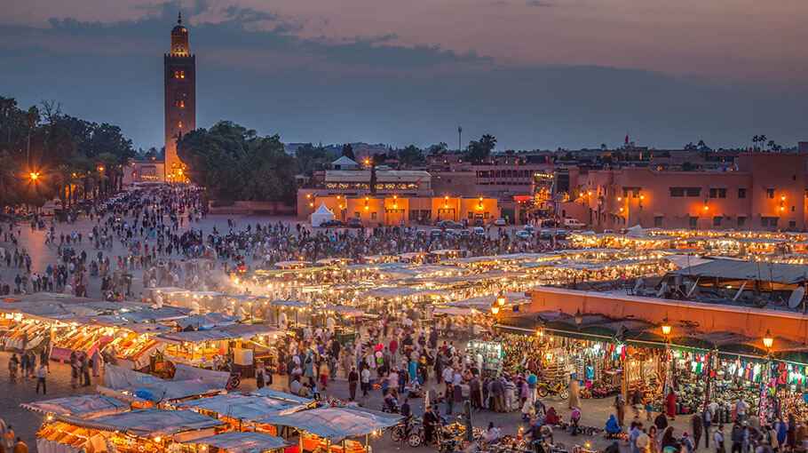 Marrakech in the evening