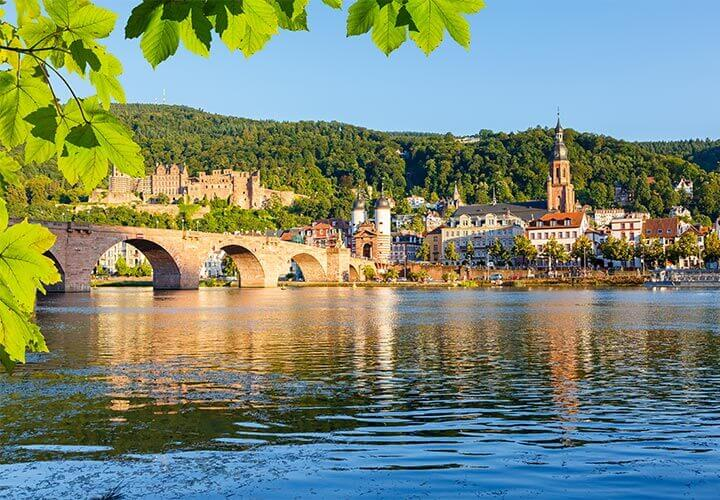Heidelberg city along the Rhine