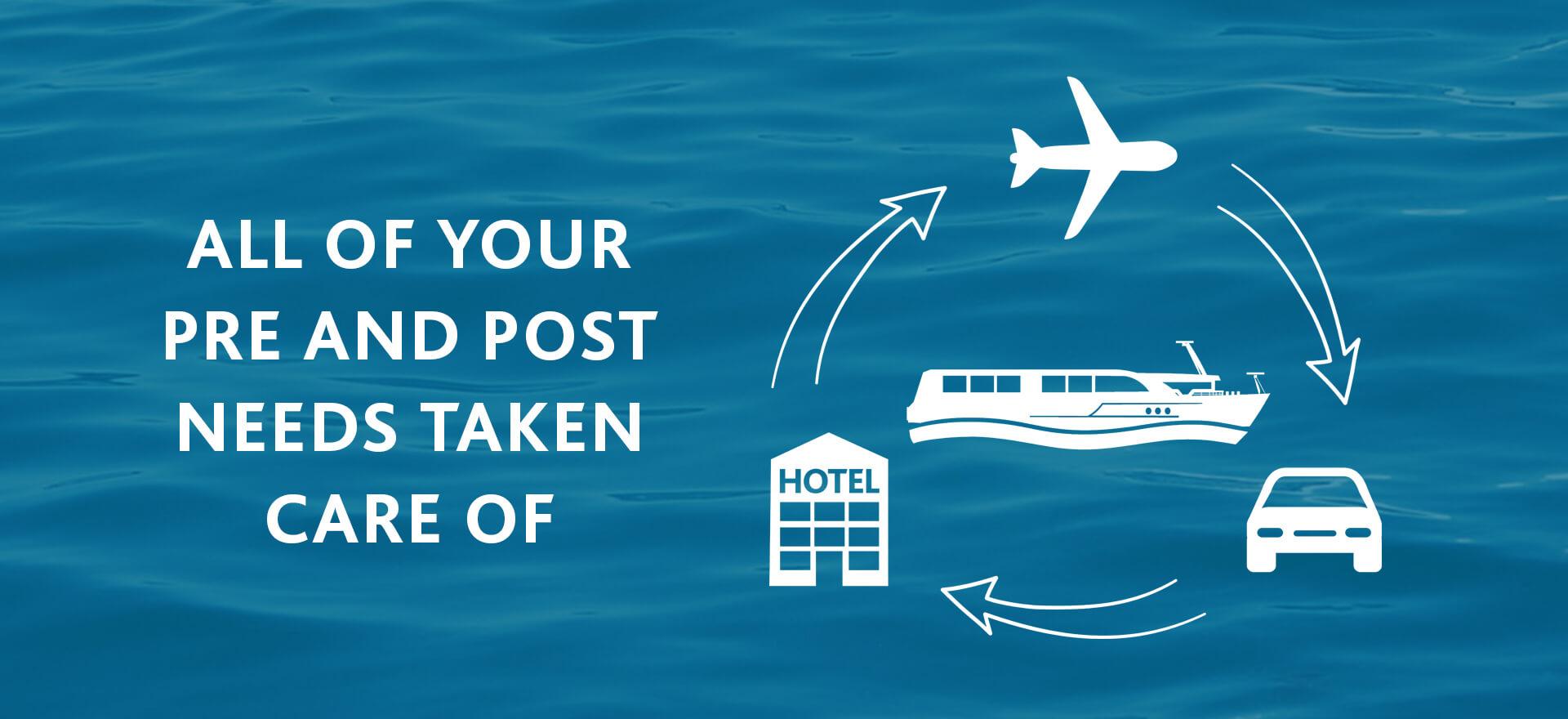 Pre and post travel arrangements