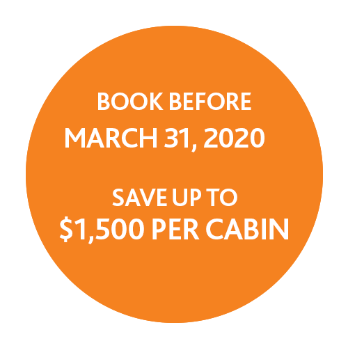 Book before March 31, 2020