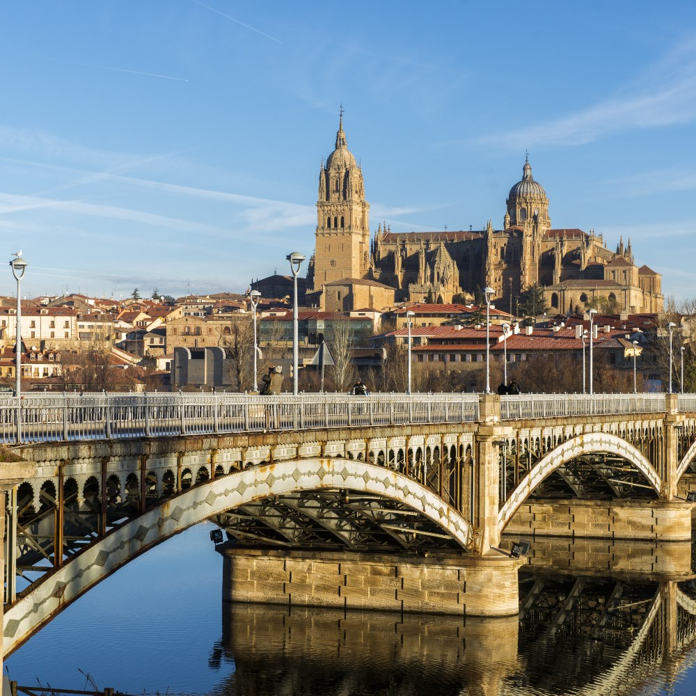 Salamanca Bridge and Cathedral