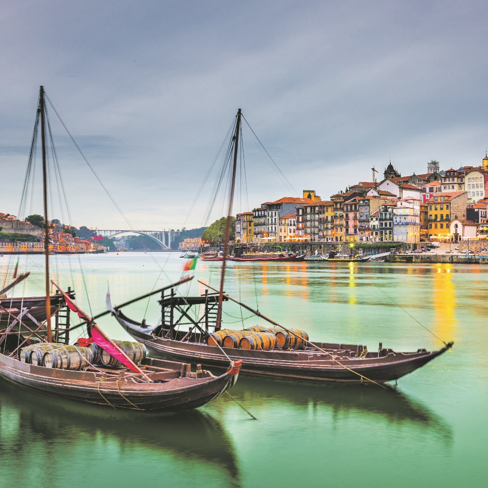 Rabelo boats on the Douro river, Porto