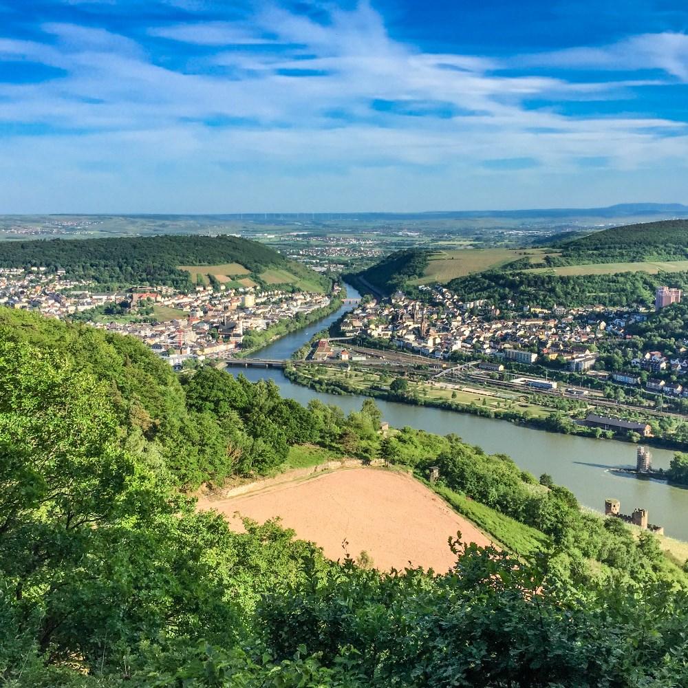 Rhine river near Rüdesheim