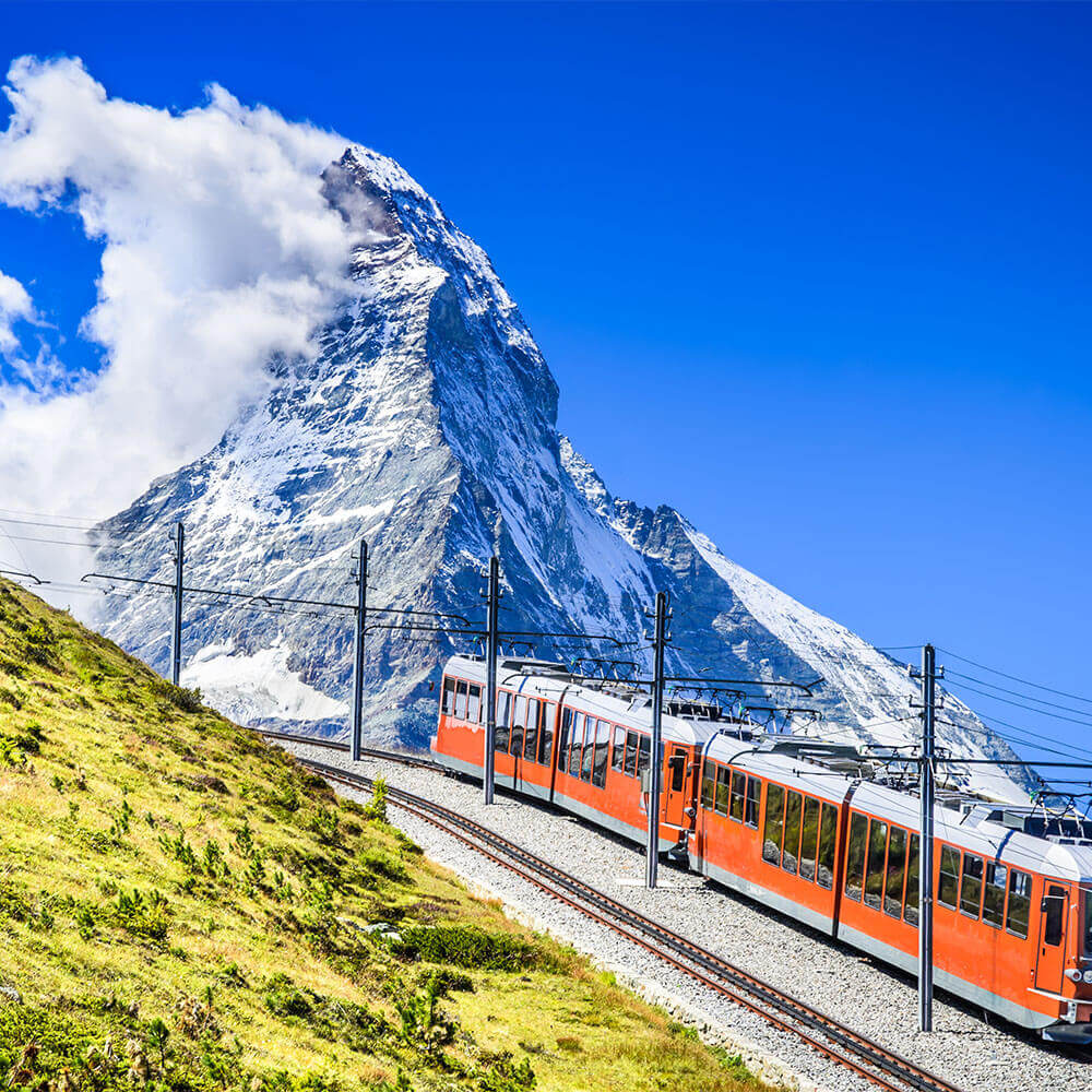 Gornergrat train and Matterhorn peak