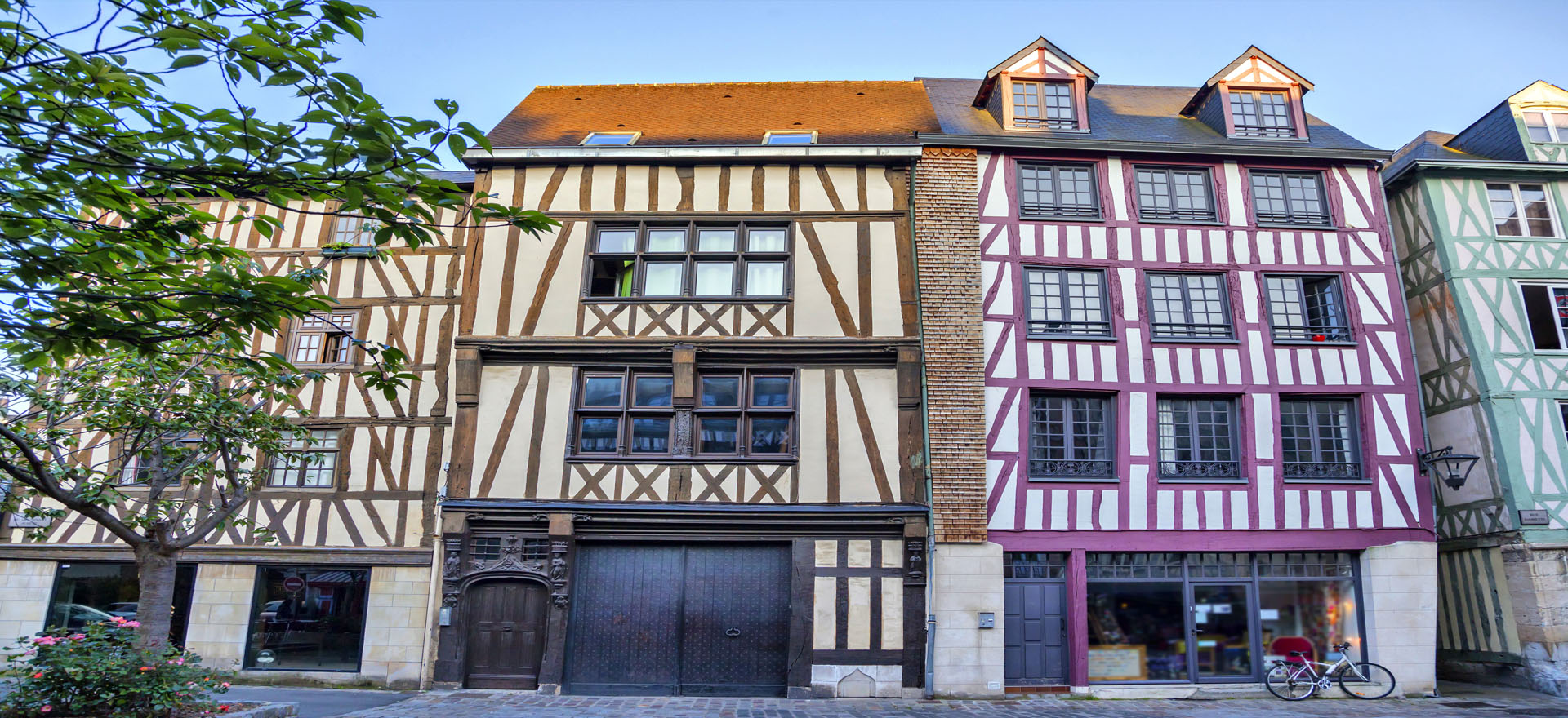 Traditional timber houses, Rouen