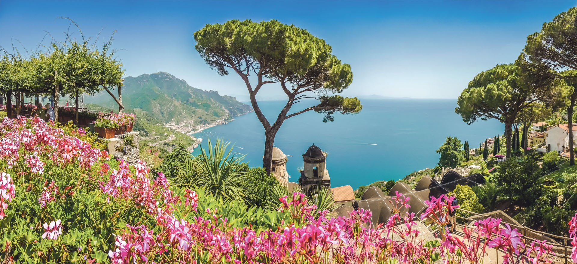 View from hilltop Ravello | the Bay of Naples | Sorrento holiday