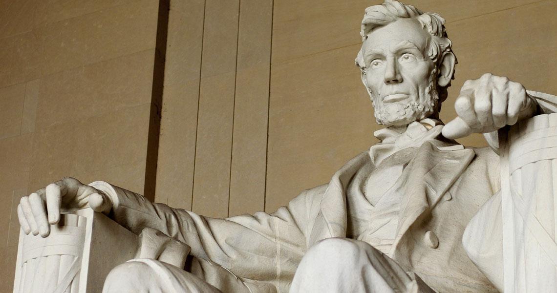 Abraham Lincoln statue at Lincoln Memorial, Washington DC