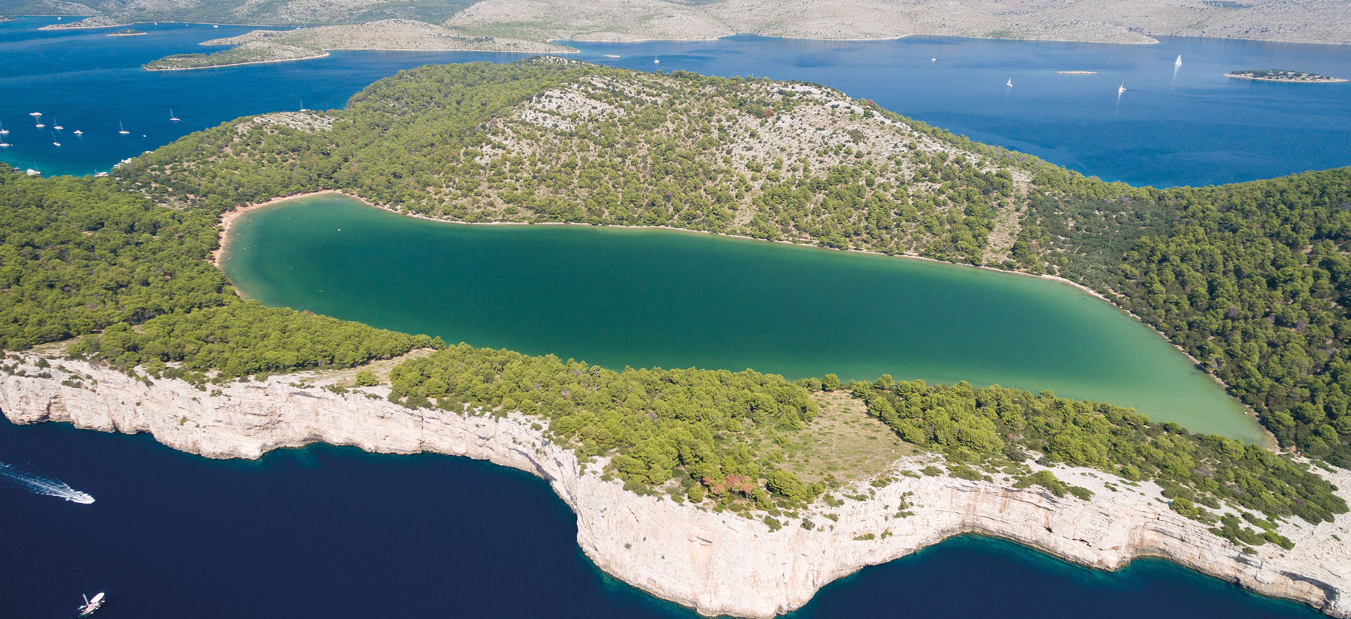 Telascica bay water and nature park in Dugi Otok island | Dugi Otok, Croatia