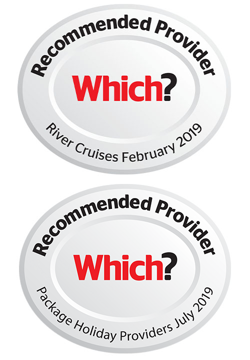 Which? Recommended Provider 2019 logos - Package Holidays and River Cruises