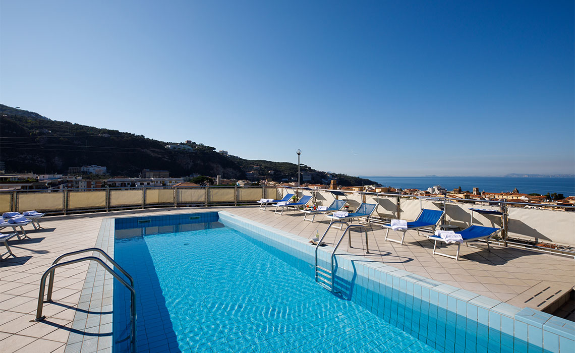 Cesare Augusto Sorrento Rooftop pool with sea views