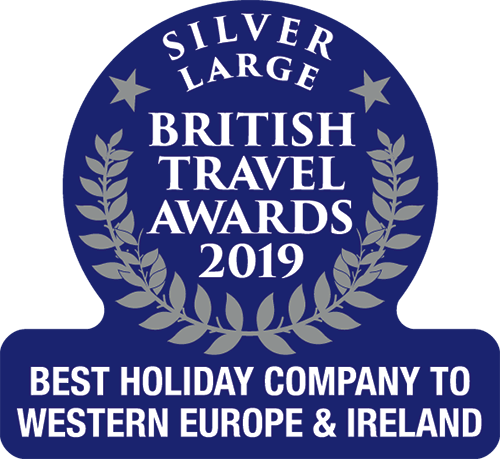 Silver Award Best Holiday Company to Western Europe & Ireland 2019