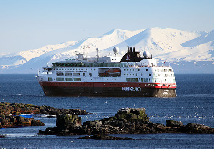 Hurtigruten MS Fram ship in Iceland