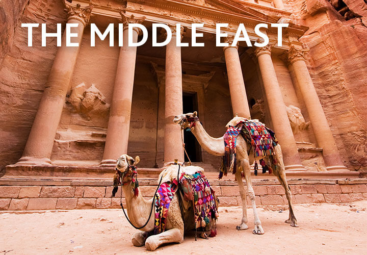 Camels resting in Petra, Jordan | Holidays to the Middle East