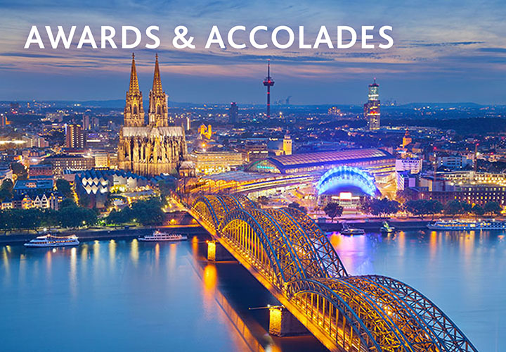 Awards & Accoladtes - Cologne Cathedral in evening