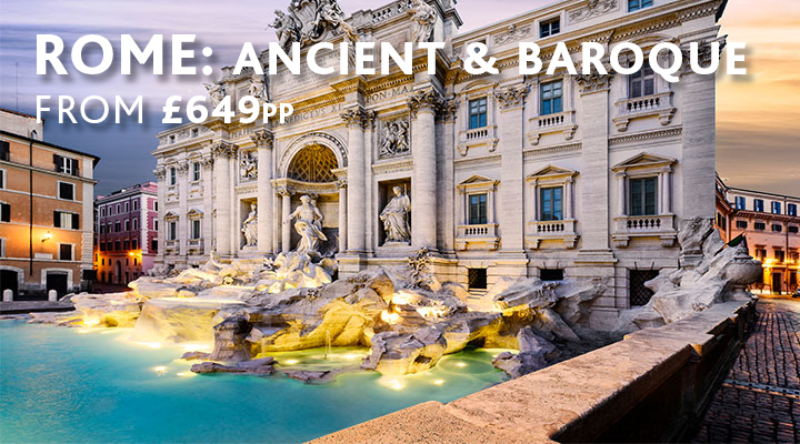 Trevi Fountain in Rome, city break from £649pp